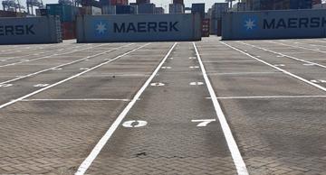Belijningen Containervakken terminal industrie