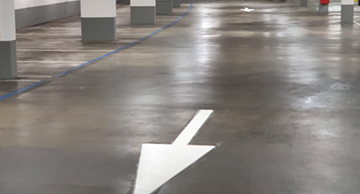 Belijningen Parkeergarage