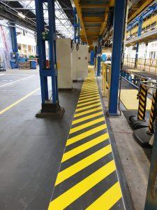 Markeringen en Belijningen Bedrijfshal Tramremise