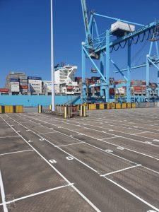 Markering Containerterminal