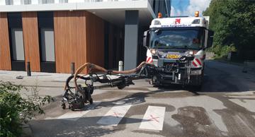 MSVM verwijderen wegmarkering