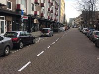 Wegmarkering Hoogstraat Rotterdam